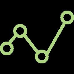 Graphics scatter graph brand development Fintech PR