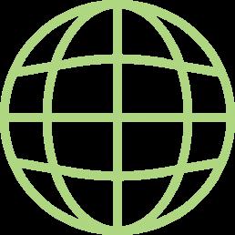 Graphics globe social media Supply Chain PR