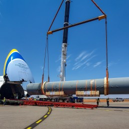 Antonov Airlines employed eight sub-contractors to complete the project that involved two An-124-100 flights.