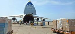 Antonov airlines loading cargo logistics pr