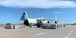 AN-225 medical supplies logistics pr